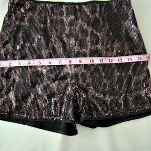Forever 21 Shorts - F21 Exclusive • Sequin Leopard Print Hot Pants